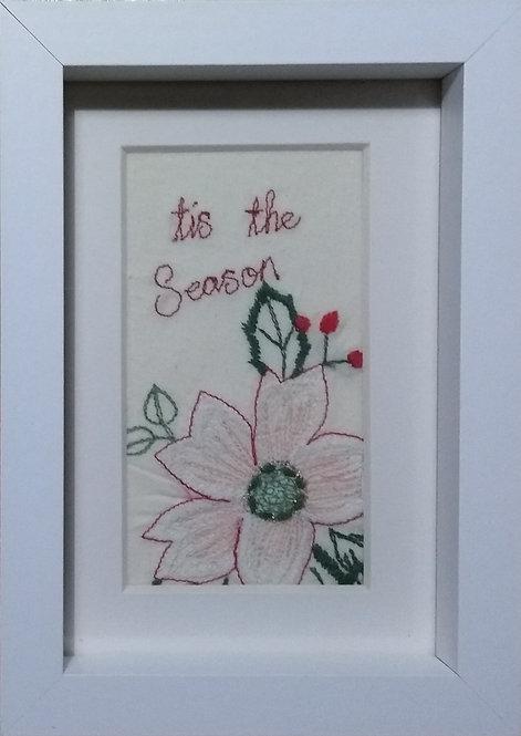 Embroidered 'tis the Season' frame
