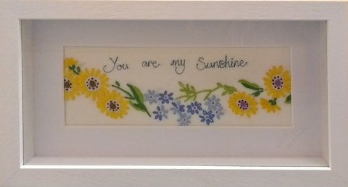 Embroidered 'You are my Sunshine' Frame