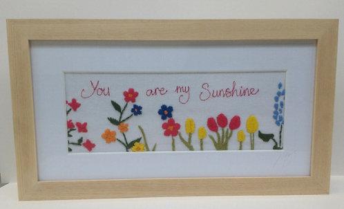 Embroidered Sunshine Frame