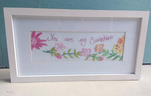 Embroidered 'Sunshine' Frame