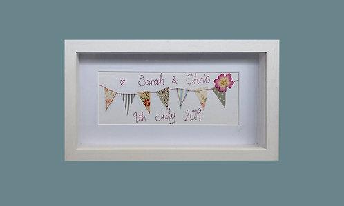 Personalised Stitched Wedding Frame