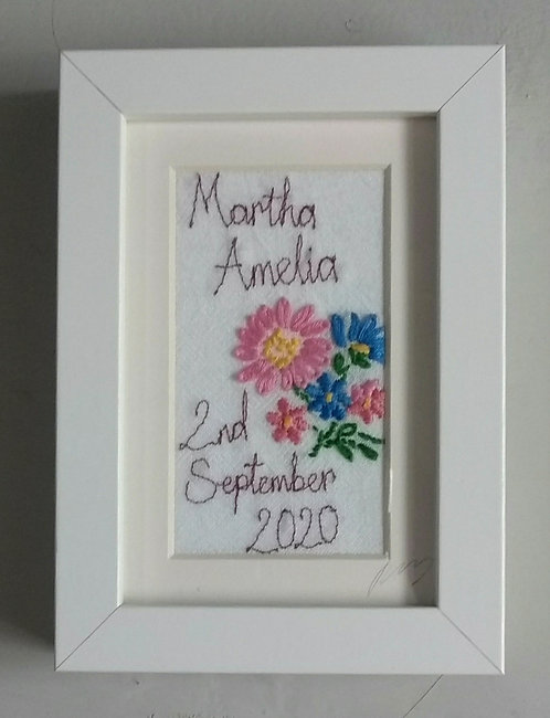 Personalised Small Stitched Frame