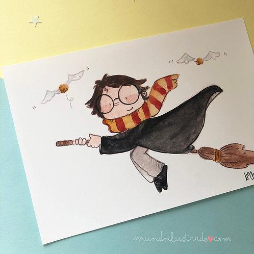 """Lamina A5 """"Harry Potter"""" (fan art)"""