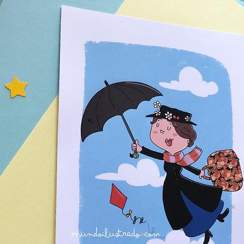 "Lámina ""Mary Poppins"" (1964) Fan Art"