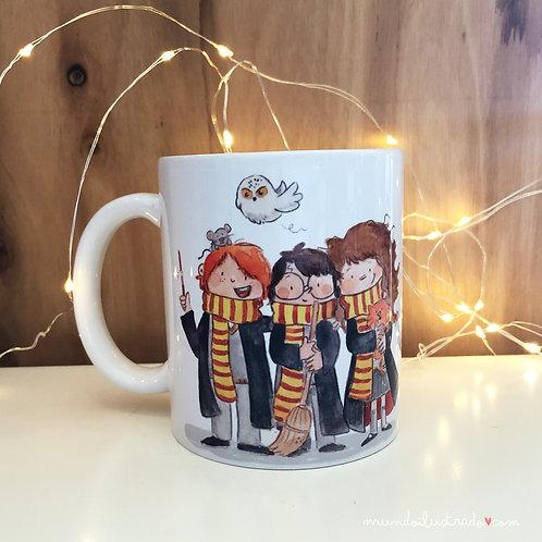 """Taza """"Harry,Hermione y Ron"""" (fan art)"""
