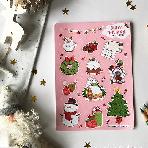"Pack de Pegatinas ""Dulce Navidad"""