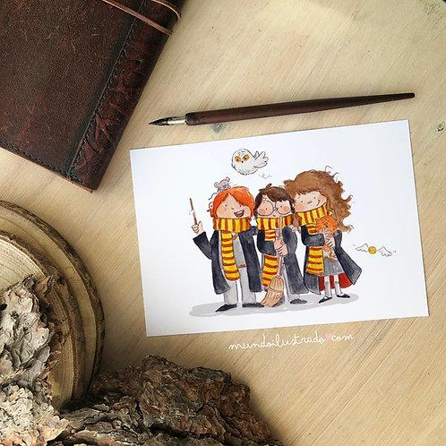 "Lámina  ""Harry Potter Trio"" (Fan Art)"