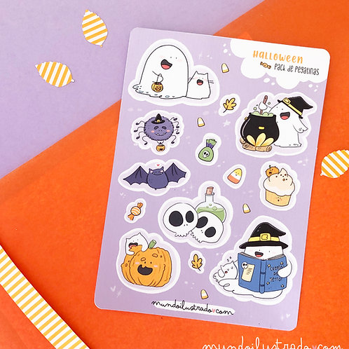 """Pack de pegatinas """"Halloween Fantasmal"""""""
