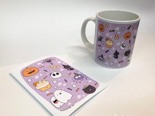 Taza Halloween +Tarjeta regalo