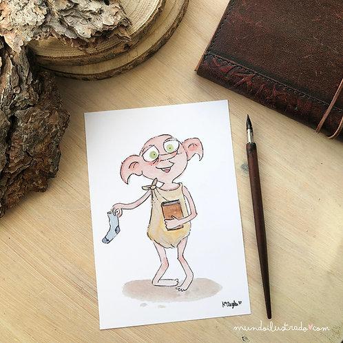 """Lámina  """"Dobby"""" (Fanart)"""