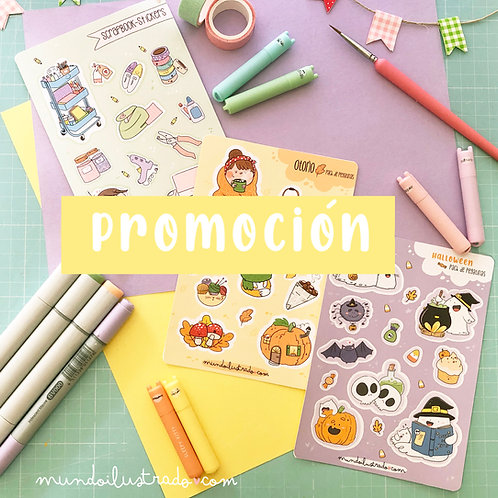 Promoción Pegatinas. PACK de TRES