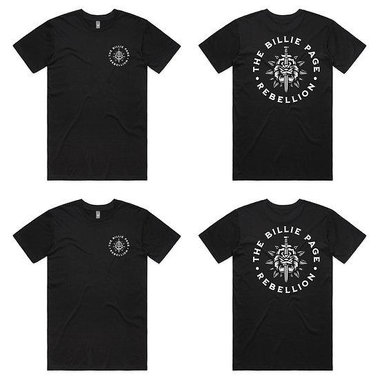 The Billie Page Rebellion T- Shirt- Black