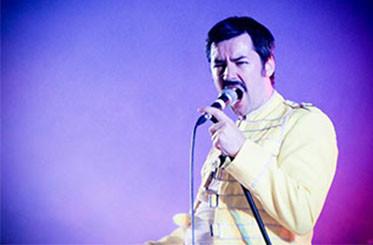 Seth Daniels as Freddie Mercury in Queen Tribute Band Majesty