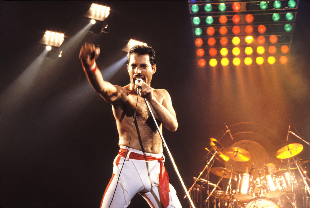 Freddie at the 1982 Hot Space Tour - Picture by Steve Jennings/Wirelmage
