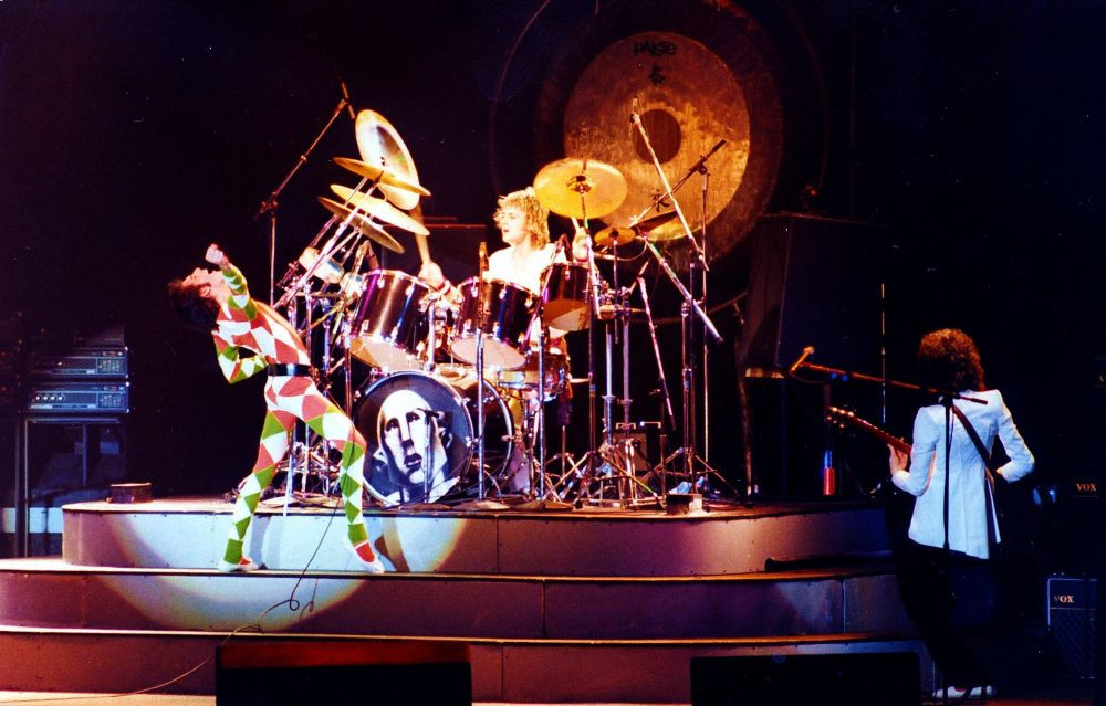 Picture of Queen on Tour in 1978