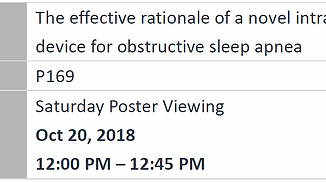 iNAP abstract selected by the ASA and ASTA Scientific Committee for poster presentation on its 30th