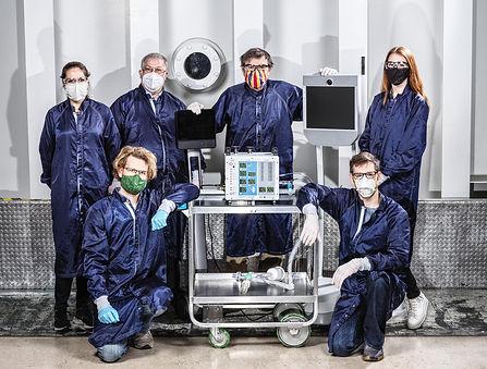 圖片說明:NASA JPL呼吸器原型研究小組(圖片由NASAJPL-Caltec