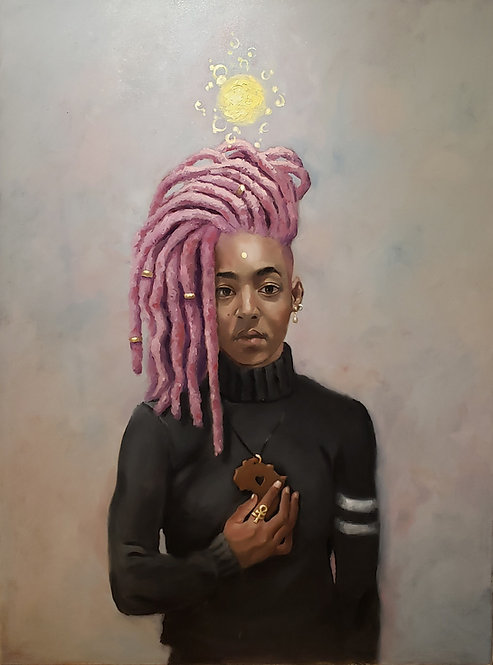 """Pink & Gold"" by Jerry Jordan"