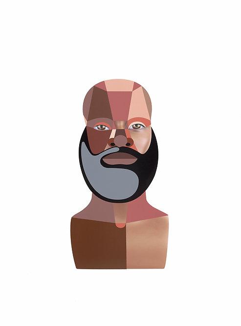 """""""Style Variation 4 (Beard)"""" by Derrick Adams"""