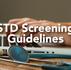 STD screening guidelines