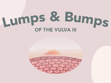 Lumps and bumps of the vulva (Part III)