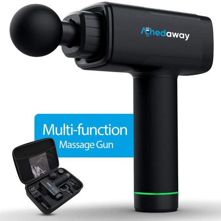 ACHEDAWAY Massage Gun Handheld Deep Tissue Percussion Muscle Massager Super Quiet With 5 Adjustable