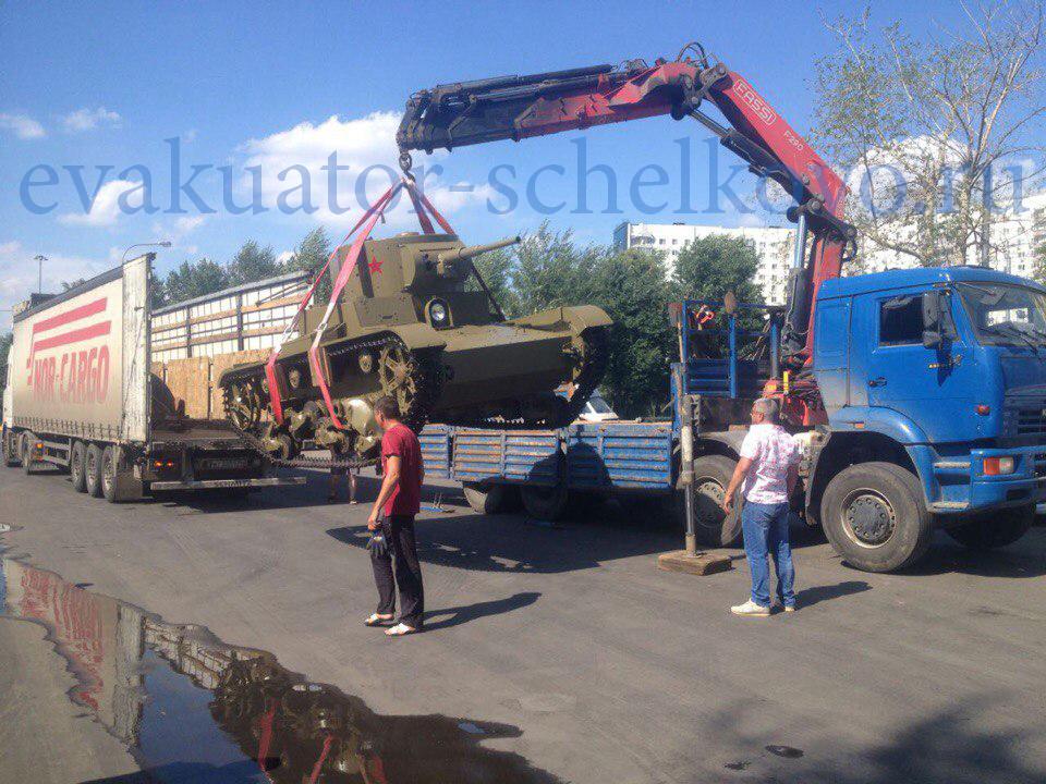 эвакуация танка