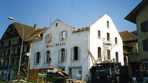 Abriss des Hotel Rössli Root