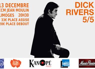 CONCERT DICK RIVERS à LIMOGES au Centre Culturel Jean Moulin