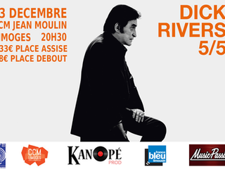 CONCERT DICK RIVERS à LIMOGES au Centre Culturel Jean Moulin