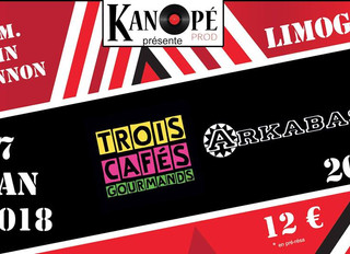 CONCERT Coplateau ARKABASH & TROIS CAFÉS GOURMANDS à Limoges au Centre Culturel JOHN LENNON