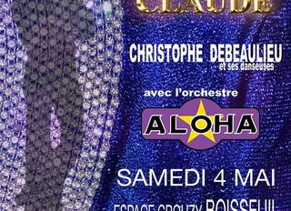 Spectacle hommage à Claude François (4/05) à l'espace Crouzy (87)