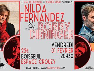 CO-PLATEAU NILDA FERNANDEZ & BOBBY DIRNINGER A BOISSEUIL A L'ESPACE CROUZY