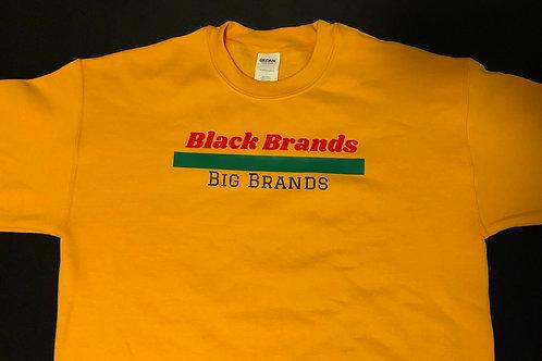 Sweatshirt: Black Brands OVER Big Brands