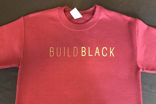Sweatshirt: Build Black Sweatshirt