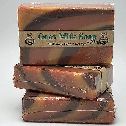 Balsam & Cedar (type) Goat Milk Soap