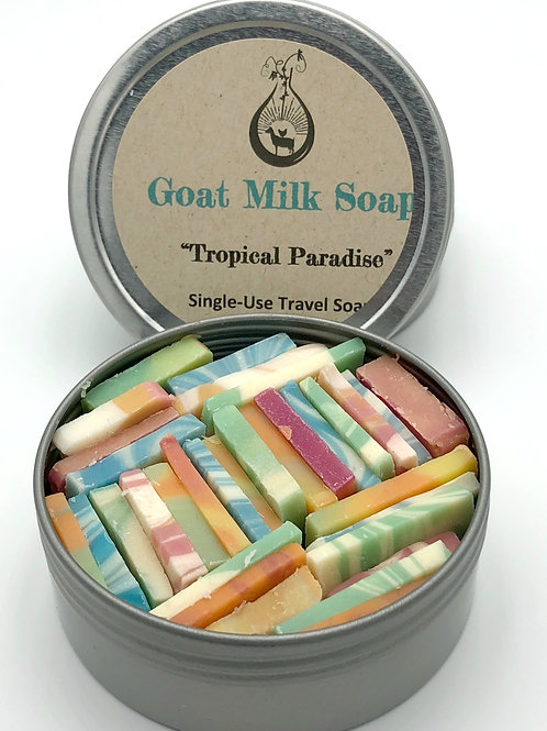 Tropical Paradise Goat Milk Soap Tin