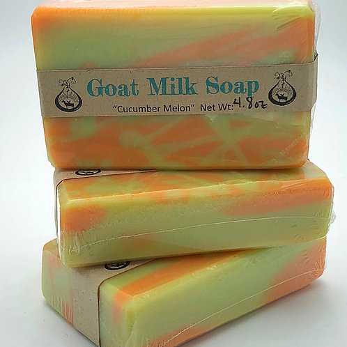 Cucumber Melon Goat Milk Soap