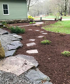 Natural Stone Mulch Bed