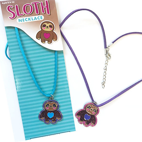 Sloth Heart Necklace