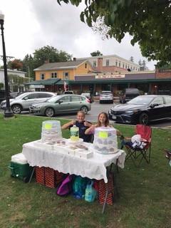 Emma and Raeny Bake Sale in Cazenovia