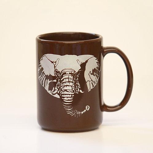 Etched Elephant Mug