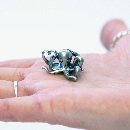 Octopus Heart Pocket Charm