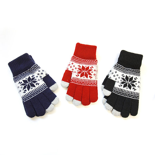Acrylic Knit Touch Screen Gloves