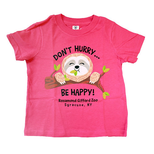 """Don't Hurry Be Happy"" Sloth Infant T-shirt"