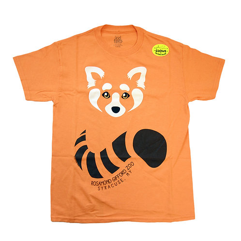 "Red Panda Face ""Glow in the Dark"" Youth T-shirt"