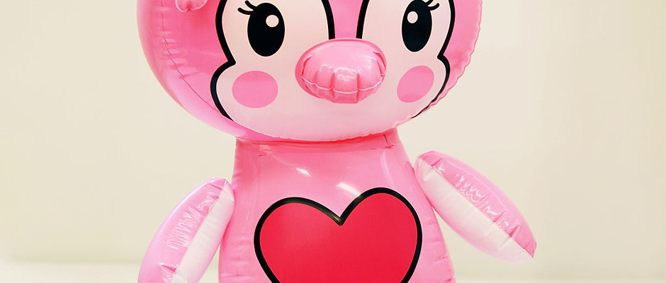 Pink Penguin Inflatable