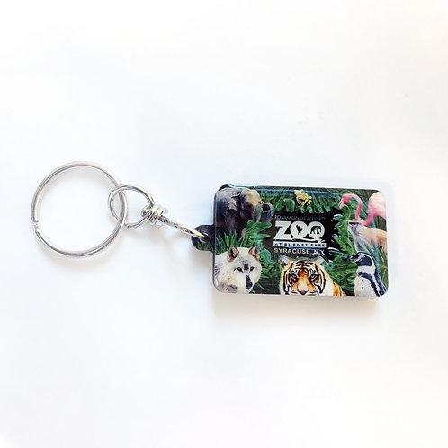 Zoo Collage Keychain