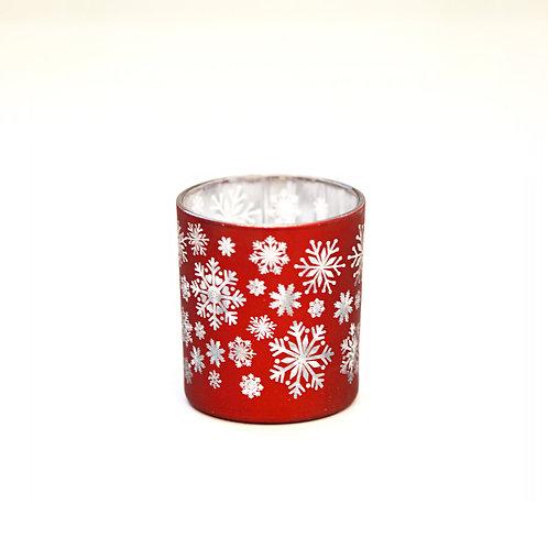 Glass Snowflake Votive Holder