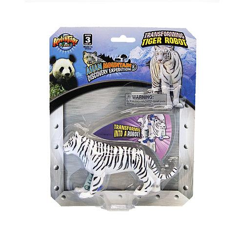 Transforming White Tiger Robot